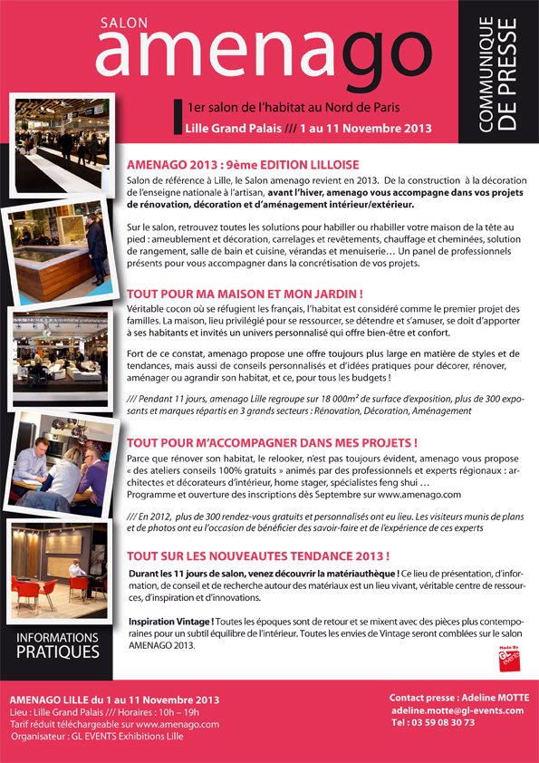 salon amenago du 1 au 11 novembre 2013 lille. Black Bedroom Furniture Sets. Home Design Ideas