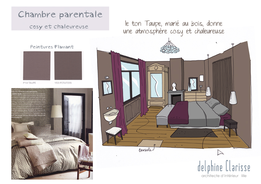 Amnagement chambre parentale belle suite parentale la for Amenagement chambre parentale