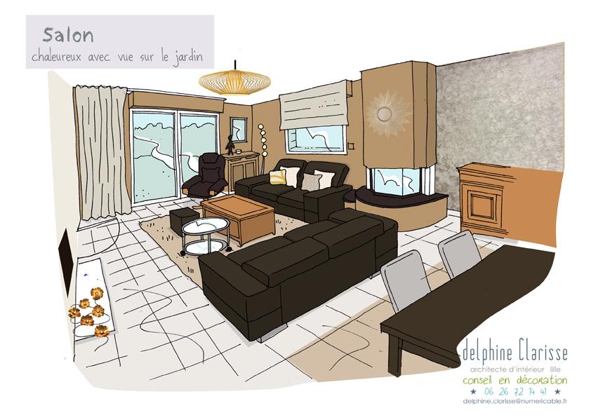 un salon modernis architecture d 39 int rieur coaching d co lille. Black Bedroom Furniture Sets. Home Design Ideas