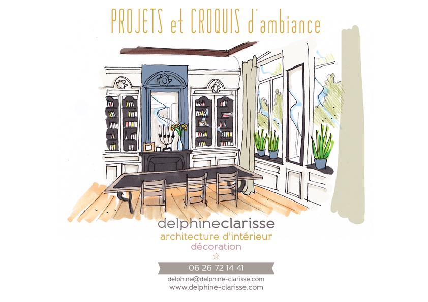 projet et croquis d'ambiance D.Clarisse