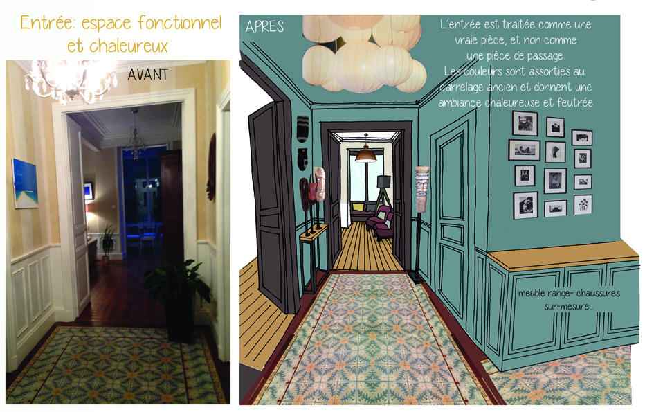 projet d 39 am nagement en croquis architecture d 39 int rieur coaching d co lille. Black Bedroom Furniture Sets. Home Design Ideas