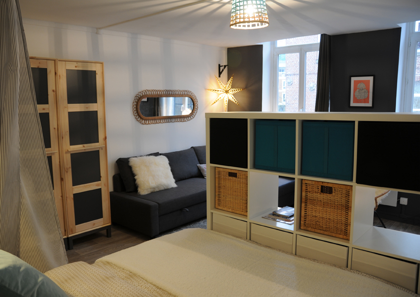 Am nagement petit budget d 39 un appartement lille suite for Salon petit appartement