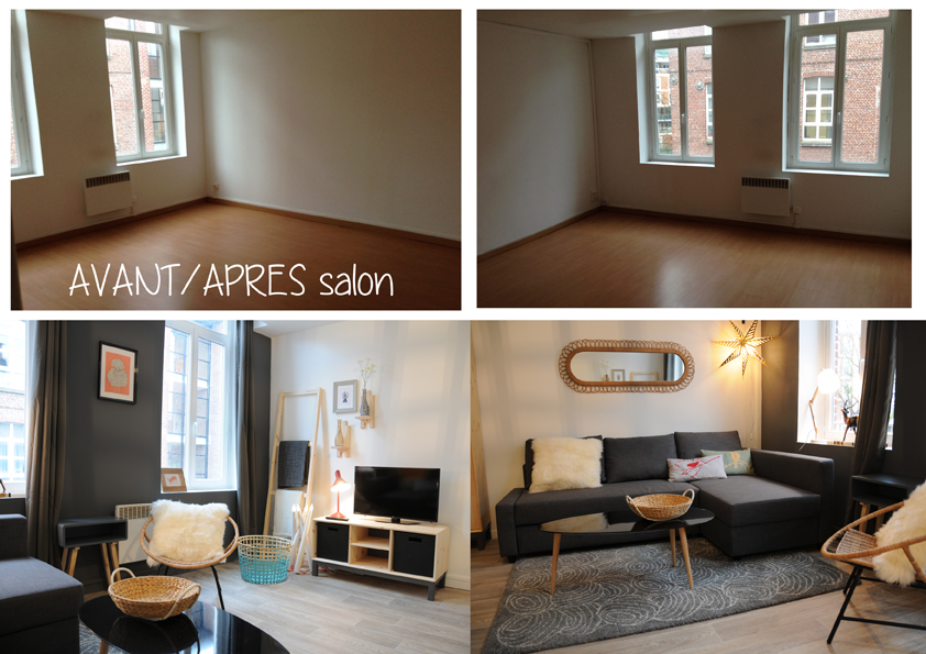 Am nagement petit budget d 39 un appartement lille suite et f - Decorer un petit salon ...