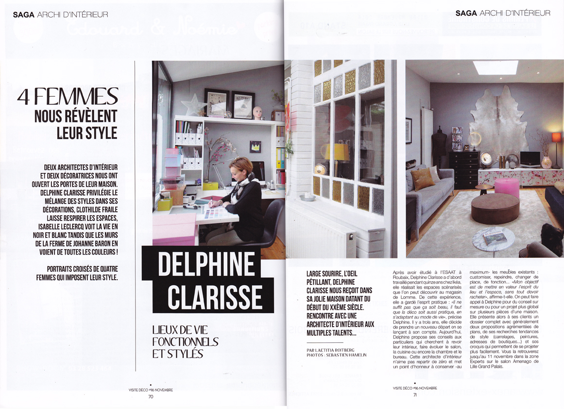 Ma parution dans le magazine visite d co lille de Article de decoration interieur