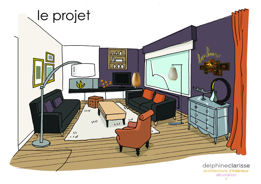 projet d co d 39 un salon architecture d 39 int rieur coaching d co lille. Black Bedroom Furniture Sets. Home Design Ideas