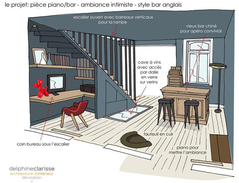 bureau sous escalier fabulous full size of design duintrieur de maison moderne amenagement deco. Black Bedroom Furniture Sets. Home Design Ideas
