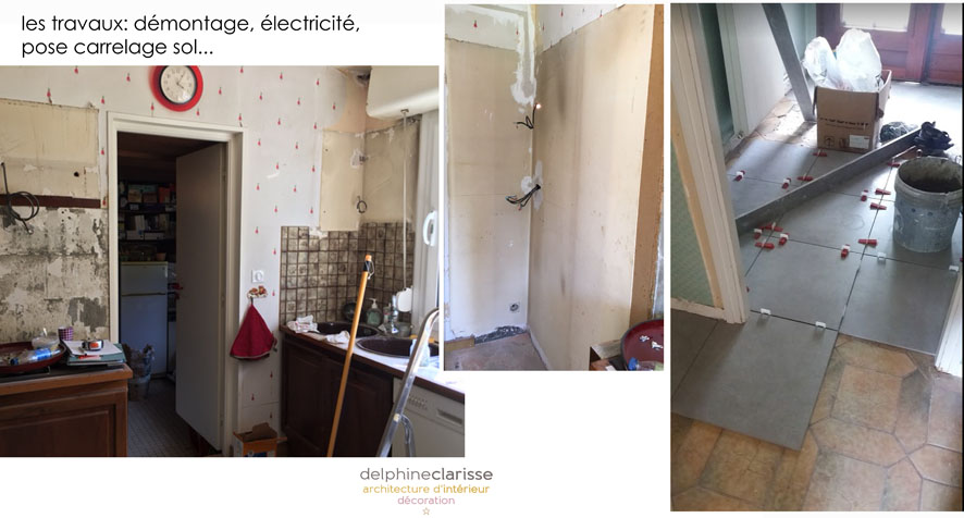 R novation de cuisine mons chantier en cours for Decoration interieur cours
