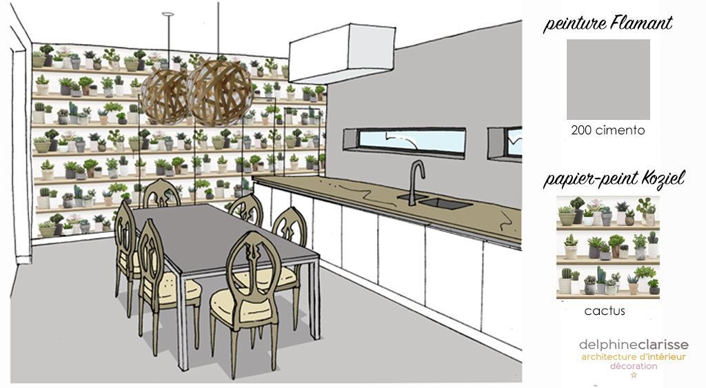 croquis d 39 ambiance pour mieux visualiser les couleurs architecture d 39 int rieur coaching d co lille. Black Bedroom Furniture Sets. Home Design Ideas
