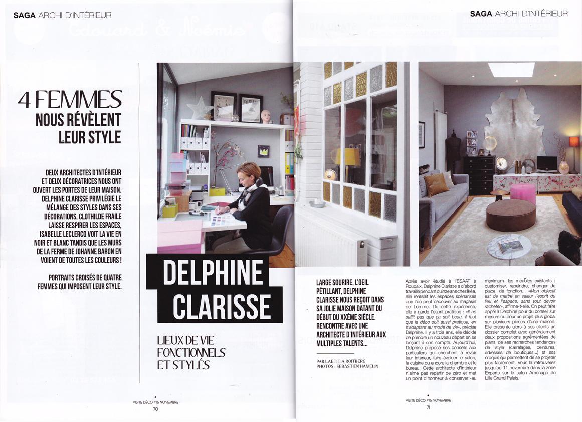 Architecte D Intérieur Lille ma parution dans le magazine visite déco - lille de novembre