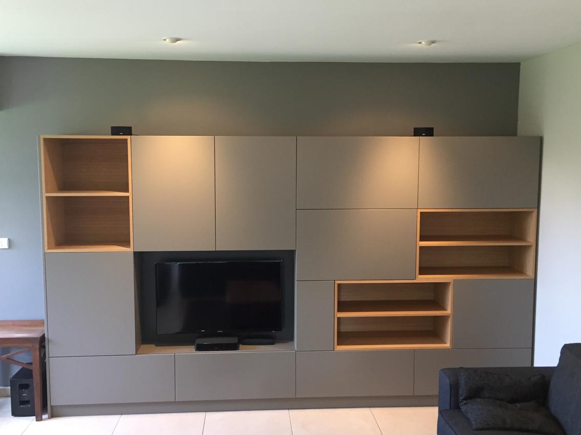 Home Staging Meuble Tv meuble tv sur-mesure - architecture d'intérieur coaching