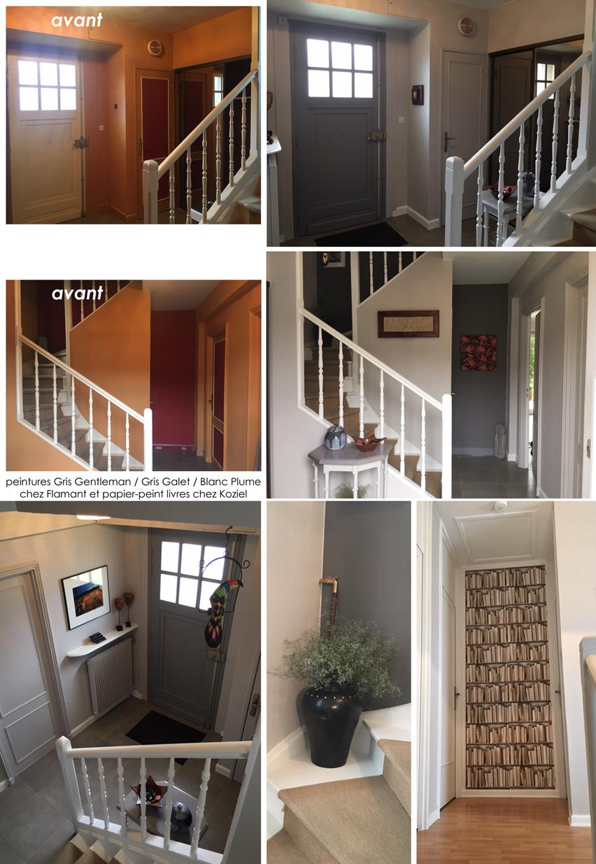Home Staging Photos Avant Après avant/après: relooking peintures d'une entrée à wasquehal