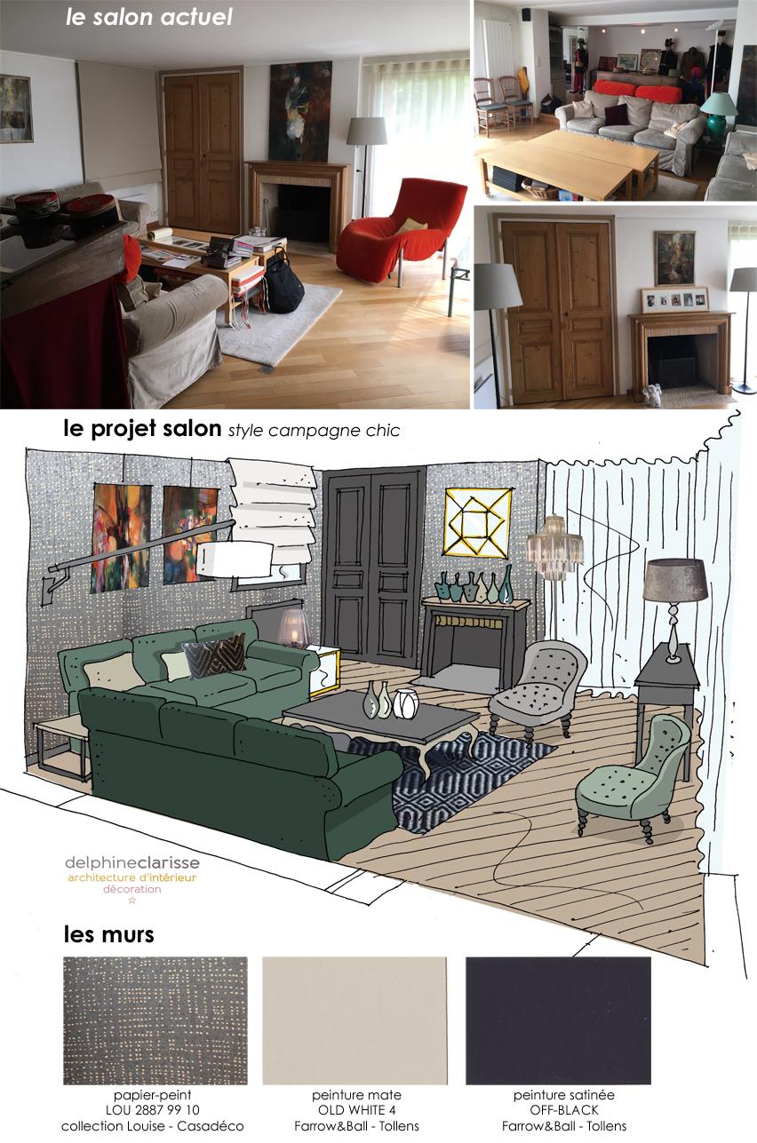 Architecte D Intérieur Lille projet d'aménagement d'un salon à villeneuve d'ascq